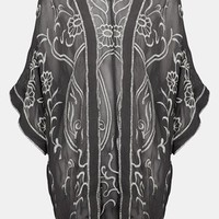 Topshop Embroidered Kimono | Nordstrom