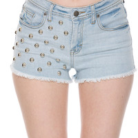Foreign Exchange :: LOOKBOOK :: FESTIVAL GLAM :: BOLTED HIGH WAIST DENIM SHORTS