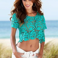 Aqua Crochet top from VENUS
