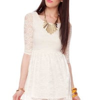 Kate Lace Dress in Ivory :: tobi