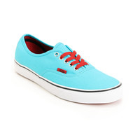 Vans Authentic Scuba Blue &amp; Chili Pepper Red Shoe