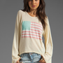 Wildfox Couture Pastel America Sweatshirt in Banana Split from REVOLVEclothing.com