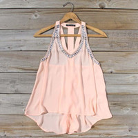 Jeweled Peaches Ruffle Top, Sweet Bohemian Lace Tops
