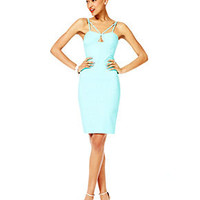Fashion Star Dress, Sleeveless Bodycon Sheath, Aqua - Women - Macy&#x27;s