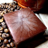 Soap Handmade Coffee Fresh Brewed 5 oz Smells Amazing Glycerin | PinksPleasures - Bath &amp; Beauty on ArtFire