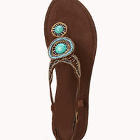 Bejeweled Thong Sandals | FOREVER 21 - 2048239865