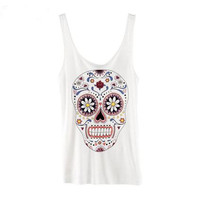 Floral Skull Tank