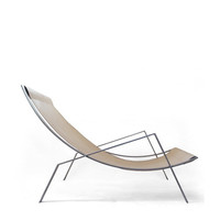 Noonan - contemporary leather and steel lounge chair.