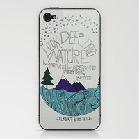 Einstein: Nature iPhone &amp; iPod Skin by Leah Flores | Society6