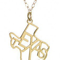 Texas Necklace Gold - y&i clothing boutique