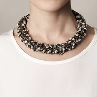 Bee crystal choker necklace | Alexander McQueen | MATCHESFASHI...