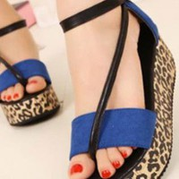 Ladies Summer Wedge Ankle Strap Casual Shoes