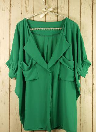 Green Short Sleeve Top - Green Oversized Top with Front | UsTrendy