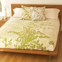 &quot;Fern&quot; Duvet Cover: Celery : Branch: Sustainable Design for Living
