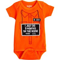 I Just Did 9 Months on the Inside Baby Bodysuit by Sara Kety - 0-6 or 6-12 Months - Whimsical &amp; Unique Gift Ideas for the Coolest Gift Givers