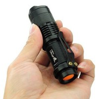UltraFire Mini CREE LED Flashlight 7W 300LM Torch Adjustable Focus Zoom Light Lamp - Amazon.com