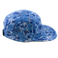 5 Panels Camo Blue Cap