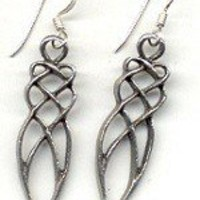 Spiral Goddess Earrings Handmade Pewter Cast Sterling Silver | DragonflyRidge - Jewelry on ArtFire