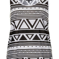 Mono Aztec Vest - Jersey Tops  - Clothing