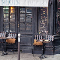Cafe on Ile Saint-Louis (8x12) - Paris Cafe Photograph, Paris Art Print, Paris Photography Decor