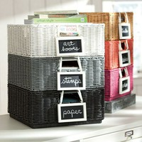 Wicker Stackable Bins