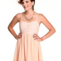 DJPremium.com - Women - Shop by Department - Dresses - Lace Dress with chiffon