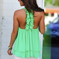 Island Time Tank: Green Apple | Hope&#x27;s