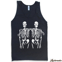 Unisex Tank SKELETONS Tri Blend american apparel XS S M L XL (5 Color Options)