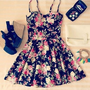 Pleated Floral Dress