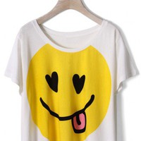 Smile Face Print T-shirt