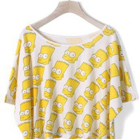 Cartoon Figure Print T-shirt