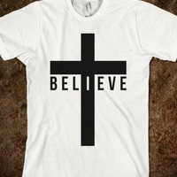 I Believe (Cross)  - An Army for One - Skreened T-shirts, Organic Shirts, Hoodies, Kids Tees, Baby One-Pieces and Tote Bags