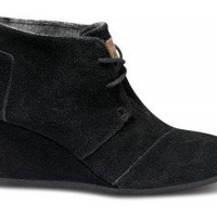 Black Suede Women's Desert Wedges | TOMS.com