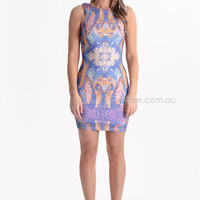 mermaid cocktail dress - blue/pink/purple at Esther Boutique