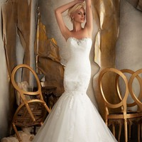 Cheap Beaded Lace Appliques Tulle Wedding Dress - Beautiful Wedding Dresses Online Wholesaler and Retailer