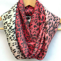 Infinity Scarf. Cheetah Circle Scarf. Loop Scarf. Women Accessories
