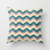 Speckled Chevron Throw Pillow by Belle13