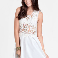 Skylight Crocheted Bodice Dress By Reverse - $55.00 : ThreadSence, Women's Indie & Bohemian Clothing, Dresses, & Accessories