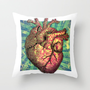 Anatomical heART Throw Pillow by Li9z
