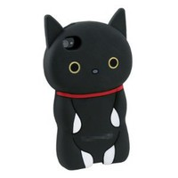 Black 3D Cat Hard Back Case iPhone 4 4S