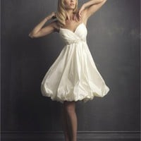 Deep Sweetheart With Spaghetti Straps Hits At The knee Wedding Dress WD1775