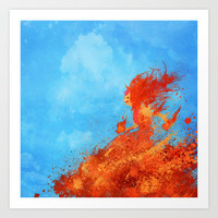 Adventure Time: Flame Princess Art Print by Melissa Smith