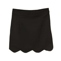 Wave Petal Hem Black Skirt [NCSTI0032] - $36.99 :
