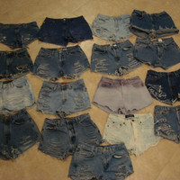 High Waisted Shorts Custom Order Any Size by shortyshorts on Etsy