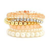 Romantic Mix Bracelet Set: Charlotte Russe