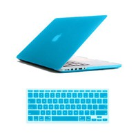 SmackTom(TM) 2 in 1 Rubberized Case Cover With Protective KeyBoard Cover For MacBook Pro 13 Inch Retina Display A1425-Tiffany Blue