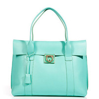 Salvatore Ferragamo - Turquoise Leather Sookie Tote
