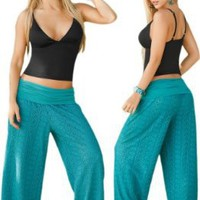 Sea Blue Beach, Pool or Resort Wear Lace Pants:Amazon:Clothing
