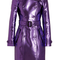 Burberry Prorsum|Metallic trench coat|NET-A-PORTER.COM