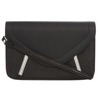 Black slant bar cross body - Purses & Wallets  - Accessories